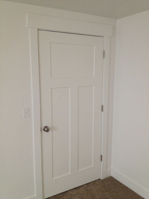 Primed White Interior 3 Panel Craftsman Shaker Style