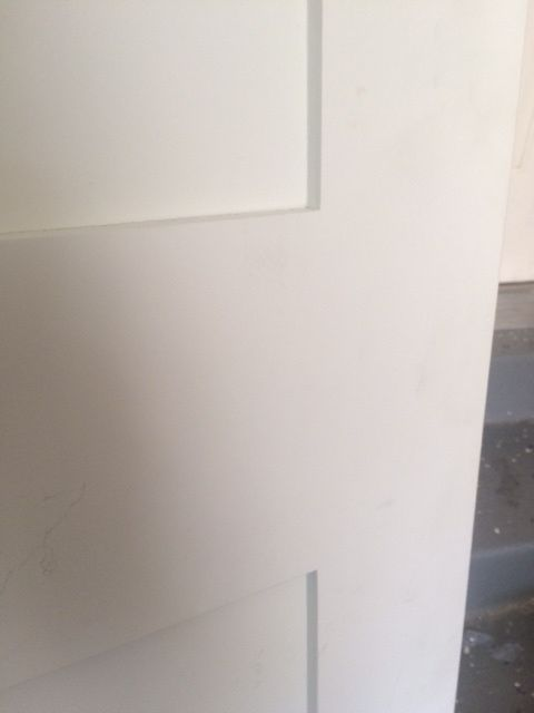 Primed White 5 Panel Solid Core Shaker Mission Style Interior Door In 1012 Ksr Door And Mill