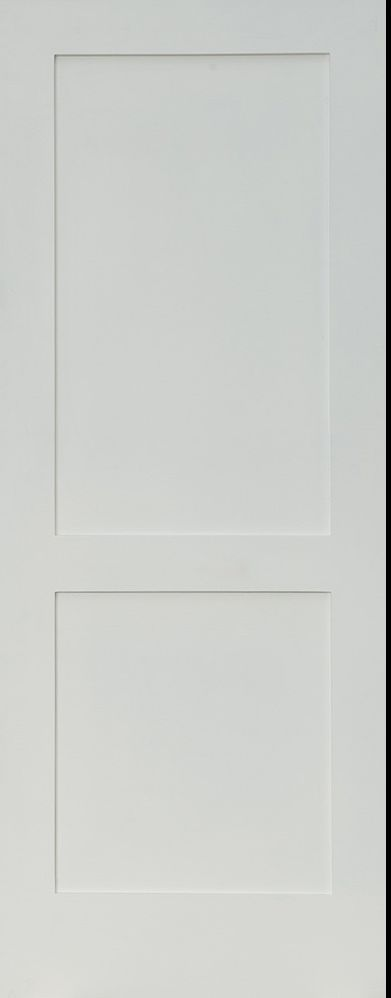 Primed White Interior 2 Panel Shaker Mission Style Interior Door In 1014 Ksr Door And Mill Comany