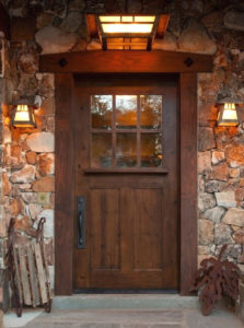 KSR SUNDANCE STYLE CRAFTSMAN KNOTTY ALDER ENTRY DOOR 42 x 80 EX-1333