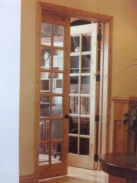 Knotty Alder 12 Lite Interior French Doors In 1006 Ksr