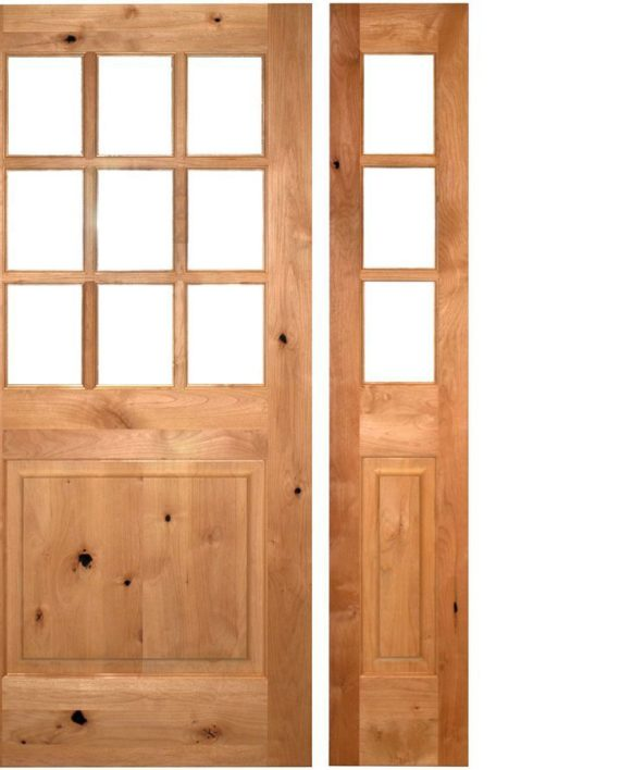 Knotty Alder 9 Lite Cottage Style Entry Door With Sidelites Ex 1349 Ksr Door And Mill Comany