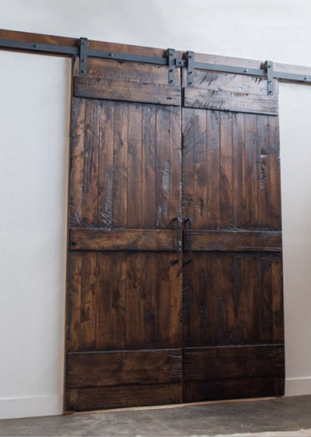 Knotty Alder Distressed Barn Doors Bd 1001 Ksr Door And