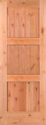 Knotty Alder 3 Panel Shaker Style Interior Door In 1009