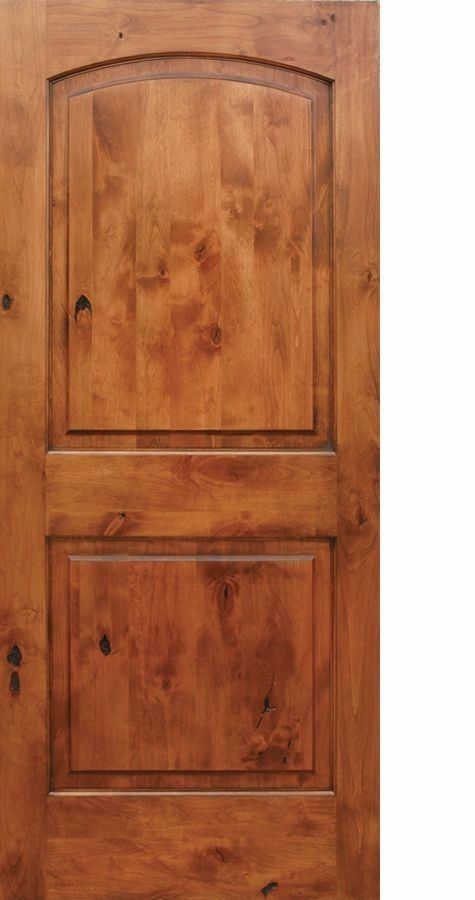 Knotty Alder Arch Top 2 Panel Interior Doors In 1002 Ksr