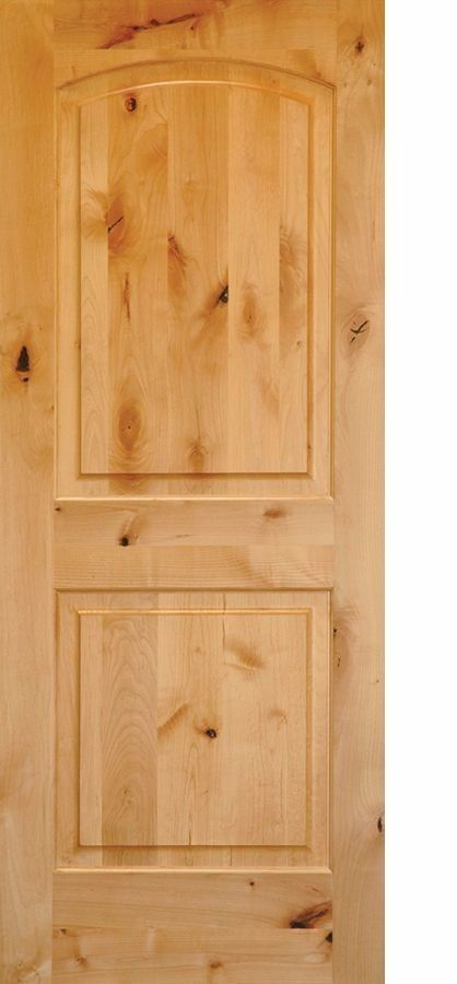 Knotty alder arch top 2 panel interior doors in 1002 ksr door and mill comany for 2 panel arch top interior doors
