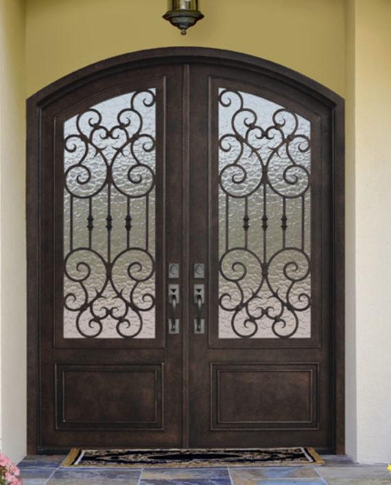 double entry door. BARCELONA 8FT FORGED STEEL DOUBLE ENTRY DOOR EX 1345  KSR Door