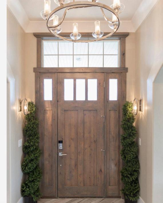 Ksr Alpine Knotty Alder 3 Lite Entry Door With Sidelites
