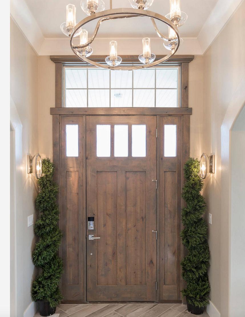 Ksr Brighton Knotty Alder 3 Lite Entry Door With Sidelites