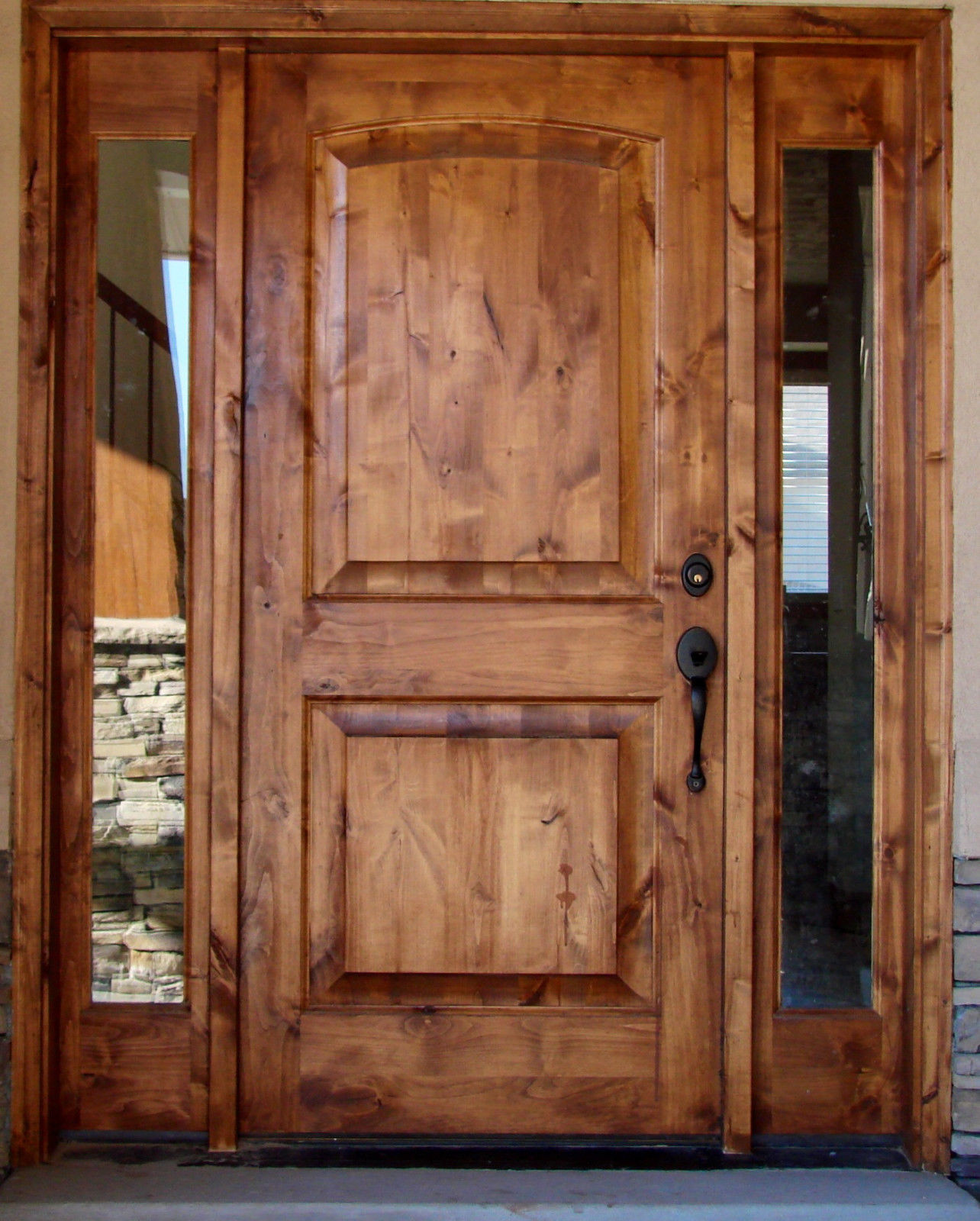 KNOTTY ALDER 2-RAISED PANEL WITH SIDELITE TUSCANY DESIGN EX-1331 & KSR Door - Custom Exterior and Interior Doors - KSR Door and Mill ... pezcame.com