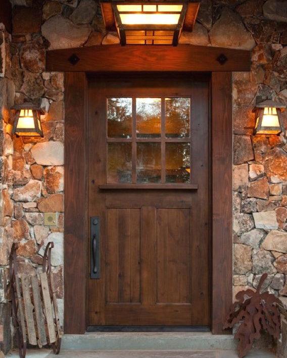 KSR SUNDANCE STYLE CRAFTSMAN KNOTTY ALDER ENTRY DOOR 42 x 80 EX-1333 & KSR SUNDANCE STYLE CRAFTSMAN KNOTTY ALDER ENTRY DOOR 42