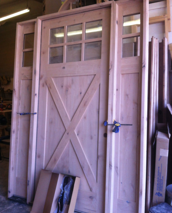 Knotty Alder Shaker Craftsman Style Entry Door 3 0 X 8 0