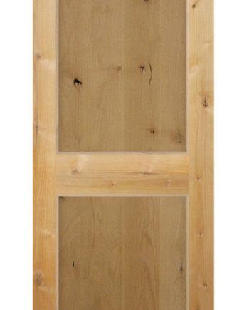 KNOTTY ALDER 2 PANEL SHAKER STYLE INTERIOR DOOR IN 1008