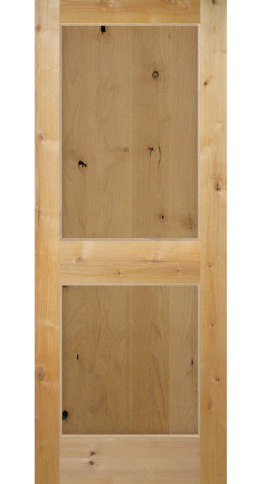 Knotty Alder 2 Panel Shaker Style Interior Door In 1008 Ksr Door
