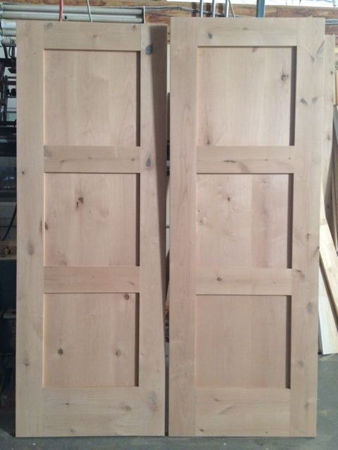 Knotty Alder 3 Panel Mission Shaker Style Interior Doors