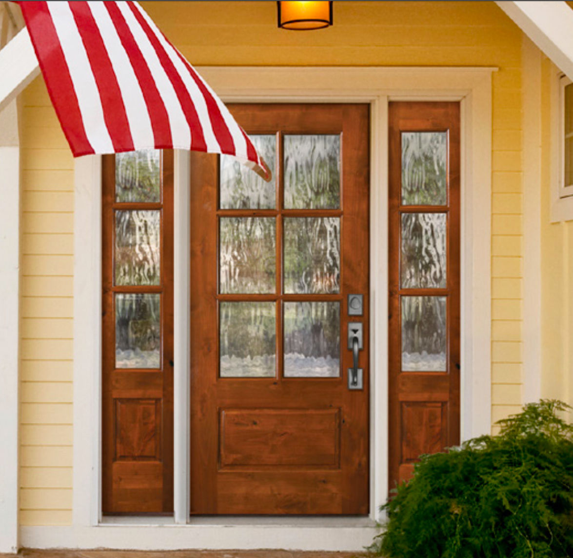 Home Exterior Doors Lighted 6 Lite Knotty Alder Cottage Style Entry Door Unit 36 X80 Ex 1340