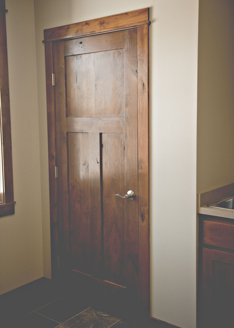Home Interior Doors Panel 3 Knotty Alder 6 8 Pre Hung Craftsman Door In 1013