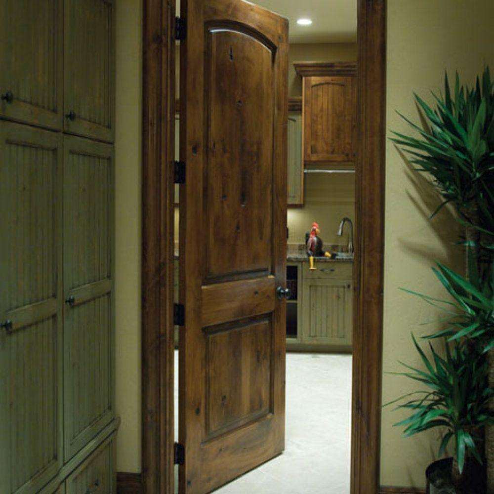 Krosswood Doors 30 In X 80 In Rustic Knotty Alder 2: Alder Doors & 80 Alder Two Panel Soft Arch Ovalo Sticking