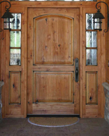 Pre Hung Knotty Alder Interior Doors Arch Top Raised