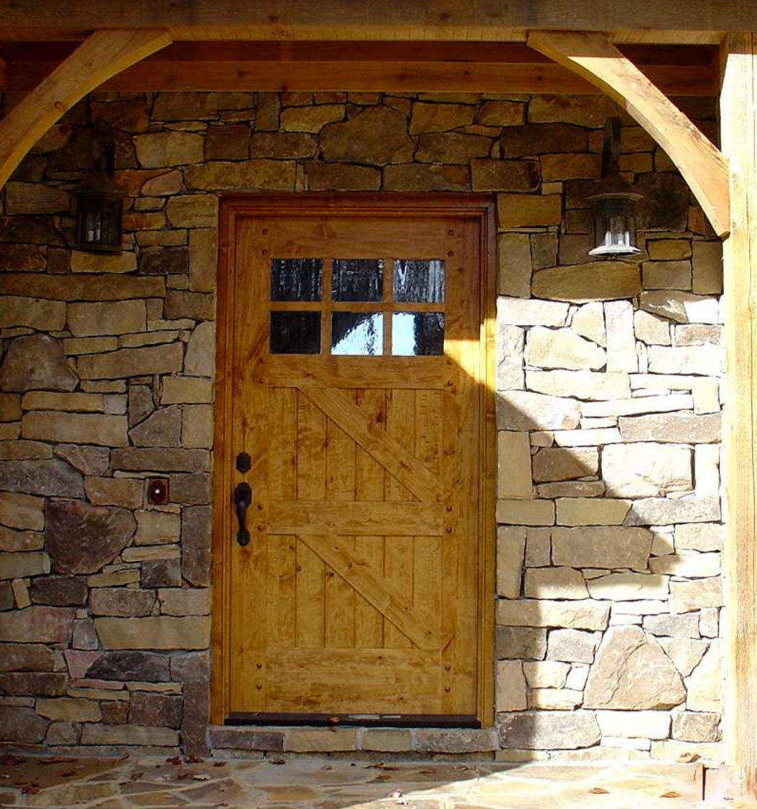 Knotty Alder Rustic Craftsman Entry Door 42 X 80 Ex 1343 Ksr