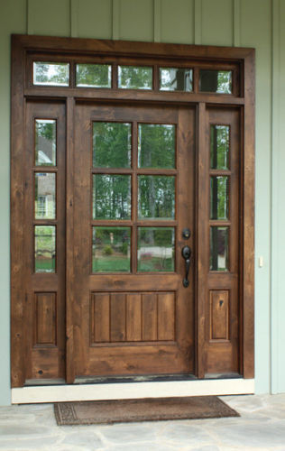 KNOTTY ALDER 6 LITE MISSION STYLE ENTRY DOOR UNIT 36u0027X80u2033 EX 1334