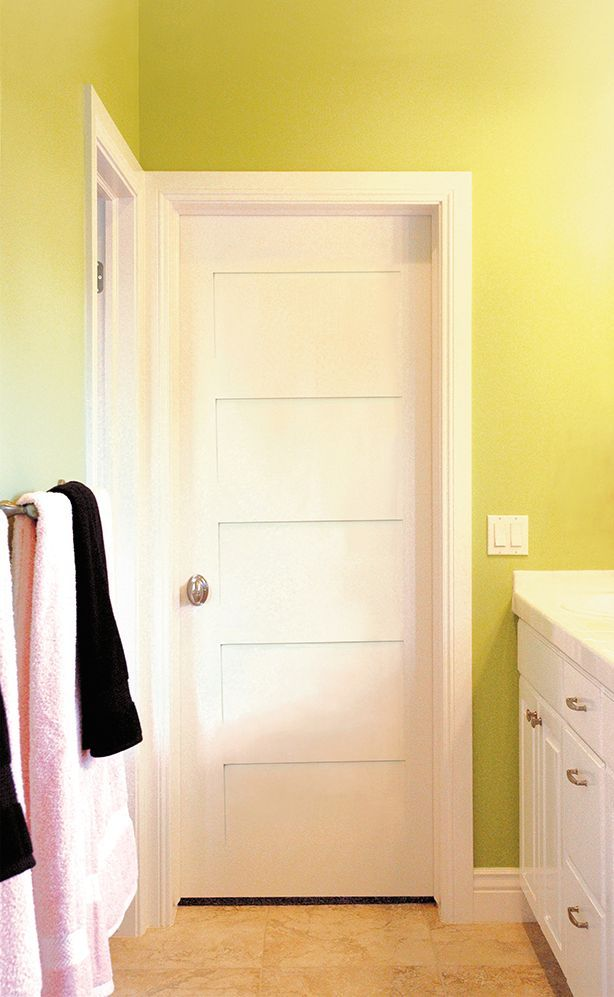 Primed White 5 Panel Solid Core Shaker Mission Style Interior Door