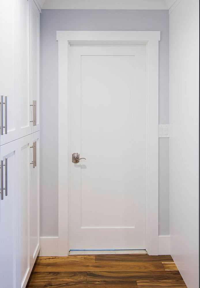PRIMED WHITE SOLID CORE 1 PANEL SHAKER MISSION STYLE INTERIOR DOOR IN 1011