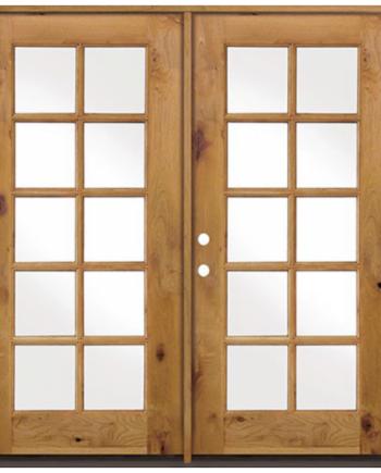 10 Lite Knotty Alder 8ft French Entry Door 72 X80 Ex 1400