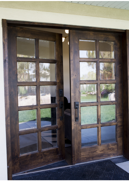 10 lite knotty alder 8ft french entry door 72 x80 ex 1400 - How wide are exterior french doors ...